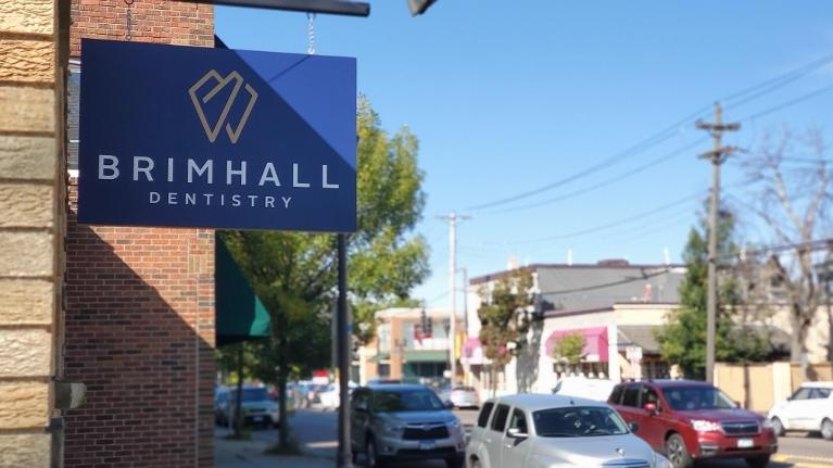 main sign on office for Brimhall Dentistry